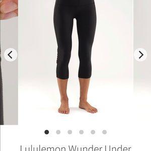 Lululemon Wunder Under Crop Ruffled Leggings